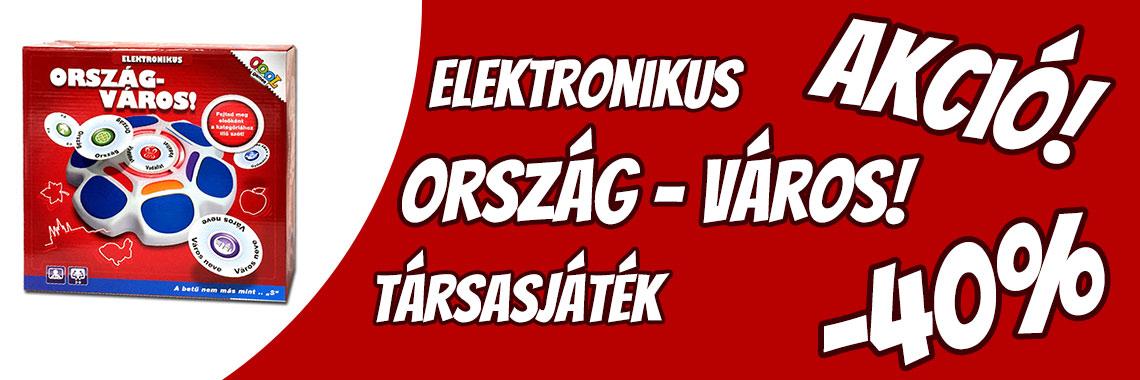 Ország Város elektronikus társasjáték AKCIÓ
