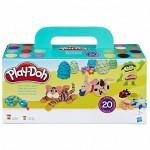 Play-Doh: Szuper színek 20 tégelyes gyurma készlet