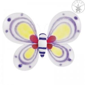 Lila-fehér pillangó szárny