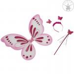 Pillangó jelmez készlet pink-fehér - Rubies