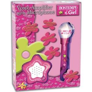 Bontempi: Karaoke mikrofon hangszóróval - rózsaszín