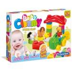 Clemmy Baby boldog farm puha építőkocka készlet