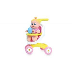 Babakocsis móka cumizó, pisilő babával - Bouncing Babies