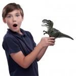 Robo Alive: Támadó T-Rex dinoszaurusz robotfigura - zöld