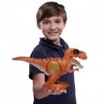 Robo Alive: Támadó T-Rex dinoszaurusz robotfigura - barna