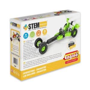 Engino Stem Heroes gyorshajtású járművek: Dragster autó építőjáték