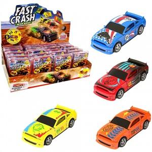 Fast Crash Car törhető kisautó több színváltozatban