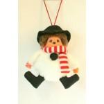 Monchhichi karácsonyi dekoros figura - hóember