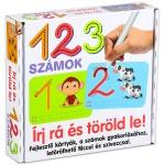 Írj rá és töröld le: 123 - számok fejlesztő kártyák