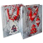 Fa mintás karácsonyi dísztasak - 32 x 26 x12 cm, többféle