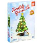 Karácsonyfa ledes 3D puzzle