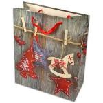 Karácsonyi ajándéktasak - 32 x 26 cm, szürke