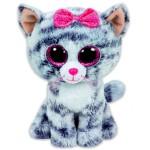 TY Beanie Boos: Kiki cica plüssfigura - 15 cm, szürke