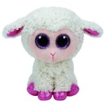 TY Beanie Boos: Twinkle bárány plüssfigura - 15 cm, krém színű