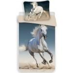 Fehér lovas ágyneműhuzat garnitúra 140x200 cm