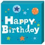 Happy Birthday Fiús szalvéta 20 db-os