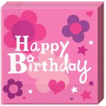 Happy Birthday Lányos szalvéta 20 db-os