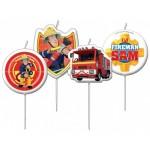 Sam a tűzoltó tortagyertya - 4db