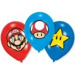 Super Mario léggömb, lufi készlet - 6 db