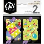 Masnis ajándékkísérő kártya, 2 db-os - M01