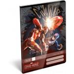 Tűzött füzet A/5 1. osztályos - Captain America, Civil War