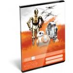 Tűzött füzet A/5 négyzethálós - Star Wars 7, Robots
