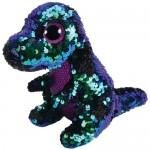TY Boos Flippables: Crunch flitteres dinoszaurusz plüssfigura - 15 cm