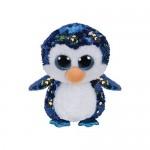 TY Boos Flippables: Payton flitteres pingvin plüssfigura - 15 cm