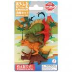 Figurás radírkészlet 7db/bliszter - dinoszauruszok