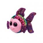 TY Beanie Boos: Flippy színes hal plüssfigura - 15 cm