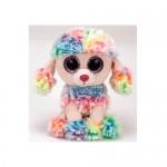TY Beanie Boos: Rainbow színes pudli plüssfigura - 15 cm