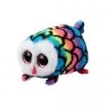 Teeny Ty: Hootie színes bagoly plüssfigura - 10 cm