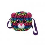 TY Gear: Dotty színes leopárd plüss oldaltáska - 15 cm