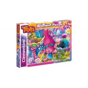 Clementoni 104 darabos Trollok ragyogó puzzle