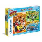 Clementoni: Mikiegér Roadster Racers 3x48 darabos puzzle