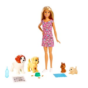 Barbie: kutyusos napközi játékszett