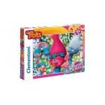 Clementoni csillámos puzzle Trollok 104 db-os