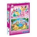 Clementoni 2x20 db-os Disney Hercegnő puzzle