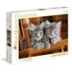 Clementoni 500 darabos szürke kiscicák puzzle