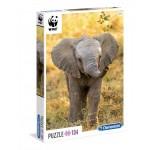 Clementoni puzzle WWF 104 darabos elefántkölyök