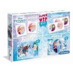 Clementoni Super Kit 4 az 1-ben puzzle (2x30), memória- és dominójáték - Jégvarázs