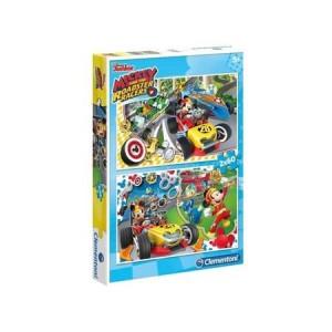 Clementoni Mickey egér Roadster Racers 2 x 60 db-os puzzle - 07130