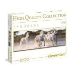 Clementoni 1000 db-os Panoráma puzzle - Vágtázó fehér lovak (39371)