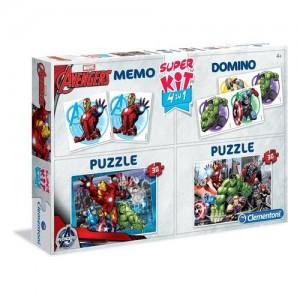 Clementoni Bosszúállók 4 az 1-ben Memória, dominó és 2x30 darabos puzzle