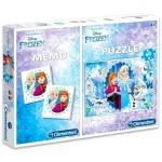 Clementoni: Jégvarázs 60 darabos puzzle és memóriajáték