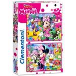 Clementoni: Minnie boldog pillanatai 2 az 1-ben puzzle