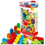 Clemmy Plus: 100 darabos puha építőkocka készlet táskában