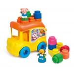 Clemmy: My Soft World Iskolabusz puha építőkockákkal