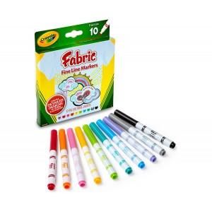 Crayola textilfilc készlet - 10 db-os