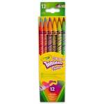 Crayola Radírvégű, csavarozható színes ceruza, 12 db